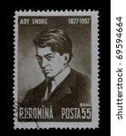 romania circa 1957  a post...   Shutterstock . vector #69594664