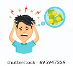 vector cartoon modern trendy... | Shutterstock .eps vector #695947339
