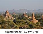 bagan view at sunset  myanmar   Shutterstock . vector #69594778