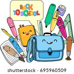 colorful vector illustration in ... | Shutterstock .eps vector #695960509