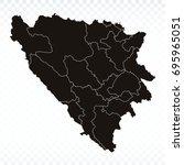 map bosnia herzegovina cantons... | Shutterstock .eps vector #695965051