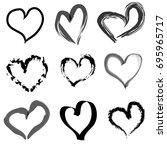 heart set | Shutterstock .eps vector #695965717