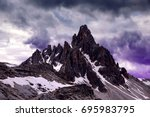 mountain landscape with storm... | Shutterstock . vector #695983795