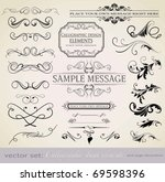 vector set  calligraphic design ... | Shutterstock .eps vector #69598396