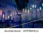 various type of financial and... | Shutterstock . vector #695984311