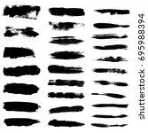 paint brush strokes  black... | Shutterstock .eps vector #695988394