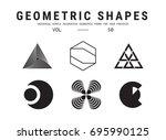 geometric shapes set. universal ... | Shutterstock .eps vector #695990125