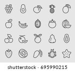 fruit line icon | Shutterstock .eps vector #695990215