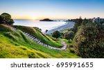 sunrise at summit hiking track... | Shutterstock . vector #695991655
