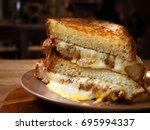 grilled cheese sandwich   Shutterstock . vector #695994337