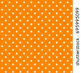 Orange   White Polka Dots...