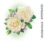 a bouquet of beautiful white... | Shutterstock . vector #695996455