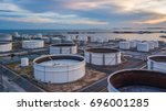 aerial view of petrol...   Shutterstock . vector #696001285