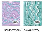 cover layouts collection with... | Shutterstock .eps vector #696003997