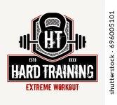 hard training   vector... | Shutterstock .eps vector #696005101