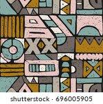 seamless african pattern.... | Shutterstock .eps vector #696005905