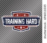 training hard   vector... | Shutterstock .eps vector #696011035