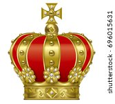 illustration of the crown.  ... | Shutterstock . vector #696015631