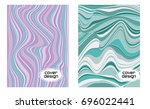 cover layouts collection with... | Shutterstock .eps vector #696022441