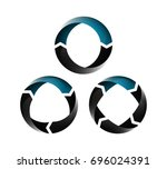 arrow icon set. template for...   Shutterstock .eps vector #696024391