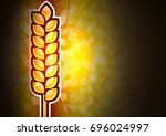 gold corn on the background.... | Shutterstock . vector #696024997