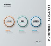 circle infographic. template... | Shutterstock .eps vector #696027565
