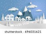vector illustration of snow.... | Shutterstock .eps vector #696031621