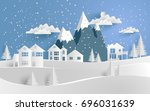 vector illustration of snow.... | Shutterstock .eps vector #696031639