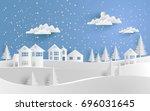 vector illustration of winter.... | Shutterstock .eps vector #696031645