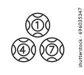 lottery balls | Shutterstock .eps vector #696035347
