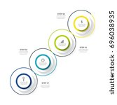 circle infographic template... | Shutterstock .eps vector #696038935