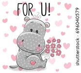 Valentine Card Cute Cartoon...