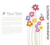 flower colorful background | Shutterstock .eps vector #69604273