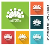 human resource icon | Shutterstock .eps vector #696045085