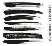 abstract black thick vector... | Shutterstock .eps vector #696046894