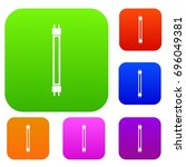 Fluorescence Lamp Set Icon In...