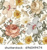 seamless pattern. beautiful... | Shutterstock .eps vector #696049474