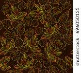 vector illustration of autumn... | Shutterstock .eps vector #696050125