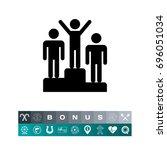 winner podium | Shutterstock .eps vector #696051034