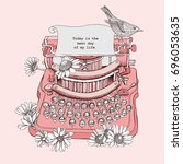 Vintage Typewriter With A...