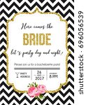 bachelorette party calligraphy... | Shutterstock .eps vector #696056539