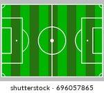 flat green field  football... | Shutterstock .eps vector #696057865