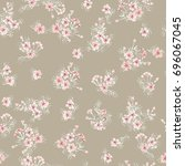 simple gentle pattern in small... | Shutterstock .eps vector #696067045