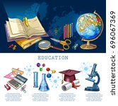 education infographic. modern... | Shutterstock .eps vector #696067369