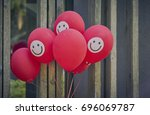 A bunch of happy smilie face...