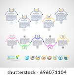 collection of vector... | Shutterstock .eps vector #696071104