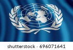 developing flag of the united... | Shutterstock . vector #696071641