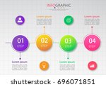 timeline infographic...   Shutterstock .eps vector #696071851