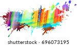 Abstract Colourful Illustrated...