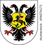 coat of arms of ortenaukreis is ... | Shutterstock .eps vector #696076171